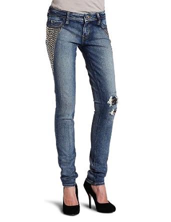 ABS by Allen Schwartz Women's Studded Skinny Jean,Sand,25