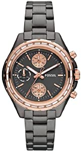 Women Watch Fossil CH2825 Chronograph Stainless Steel Case and Bracelet Black D Women Watch Fossil