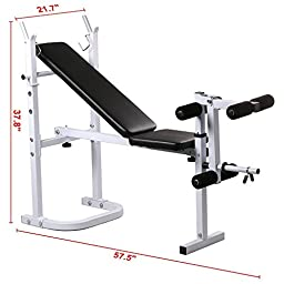 Yaheetech Female Weight Lifting Bench Fitness Workout Home Exercise Adjustable Incline Press