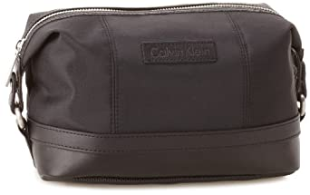 Calvin Klein Men's Toiletry Travel Case, Black, One Size