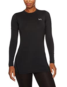 Under Armour Women's ColdGear® Fitted Long Sleeve Crew Extra Small Black