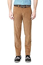 Allen Solly Mens Casual Trousers (8907308028335_AMTF515G01565_34W x36L_Dark Khaki)