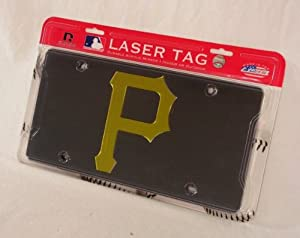Pittsburgh Pirates Deluxe Mirrored Laser Cut License Plate by Rico
