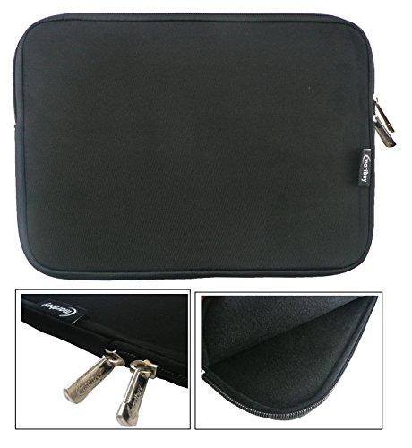 emartbuy-black-water-resistant-neoprene-soft-zip-case-cover-sleeve-with-black-interior-zip-suitable-