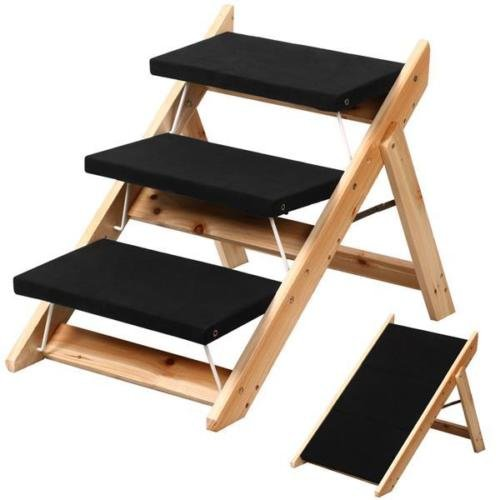 Pet Stairs Steps Dog Ramp Cat Step Portable Animal Wood Ladder Folding Home Easy (Canopy Protection Plan Console compare prices)