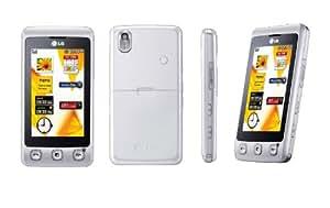 LG KP500 Téléphone portable Ecran Tactile Appareil photo 3 Mpix Lecteur Multimédia Bluetooth Blanc