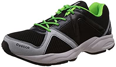 Reebok Men's Reebok Thunder Run Black,Blue, Green And White Running Shoes - 10 UK
