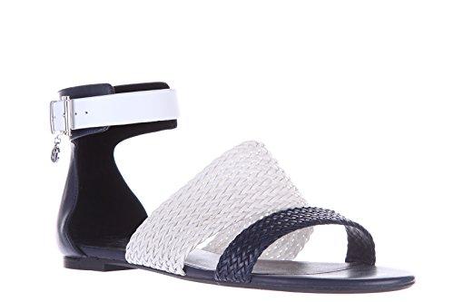 Armani Jeans sandali donna in pelle originale blu EU 37 C5717 15 G8