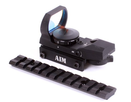 Weaver Ruger 10/22 Tactical Scope Mount with Red & Green Dot Sight w/ 4 Different Reticles from Mounting Solutions Plus
