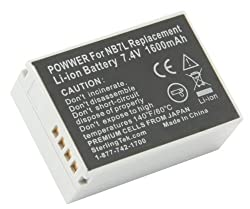 STK's Canon NB-7L Battery Pack - 1600mAh for Canon Powershot SX30 IS, G12, SX30IS, G11, G10, Cannon, CB-2LZ, NB7L by Sterling Publications