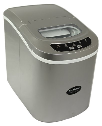 Andrew James Compact Counter Top Ice Maker Machine - New Slimline Model - 15kgs of Ice per 24hrs - No Plumbing Required + INCLUDES AN ICE CRUSHER