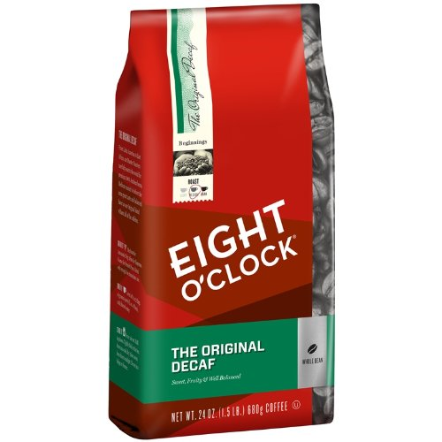 Eight O'Clock The Original Decaf Whole Bean Coffee, 24 Ounce