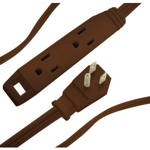 Axis 45504 3 Outlet Indoor Extension Cord, 8 Feet (Brown)