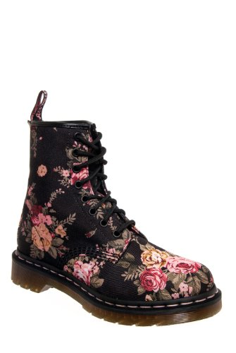 Vintage Flowers Lace-Up Boot