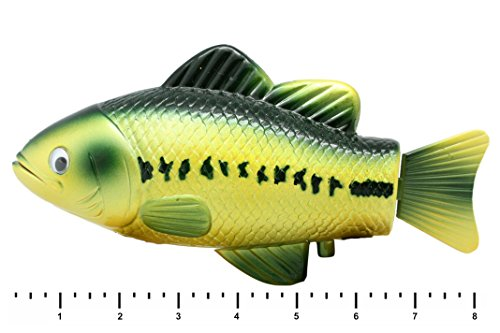 Large mouth bass realistic swimming fish water pool and for Battery operated fish