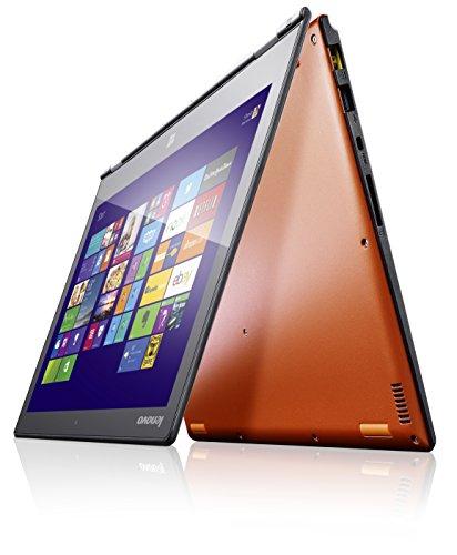 """Lenovo YOGA 2 Pro-13 Notebook Convertibile Multimodalità 13.3"""", Schermo Quad-HD+ Ripiegabile a 360° con IPS 10 Punti Multi-Touch, Intel Core i5-4210U Haswell, RAM da 8 GB, SSD da 256 GB Serial ATA, Intel HD Graphics 4400, Arancio"""
