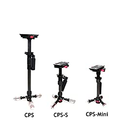 CameraPlus - CPS-S 3 Axis High Quality Carbon Fiber Steadycam Stabilizer /Tripod Steadycam Video Rig with Single Handle Arm, Tripod and Weights for Gopro Digital SLR Camcorder Video - Max Height 42cm & Max load 3.5KG with carrier bag