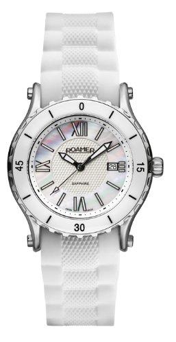Roamer Women's Quartz Watch PURE 942980 SS1 with Rubber Strap