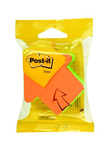 post-it-note-fantaisie-forme-fleche-225-feuilles-orange-vert