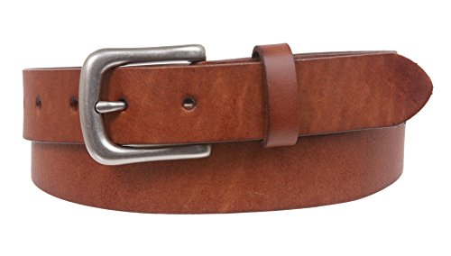 "1 1/8"" Snap On Oil Tanned Skinny Vintage Cowhide Leather Belt Size: 32 Color: Cognac"