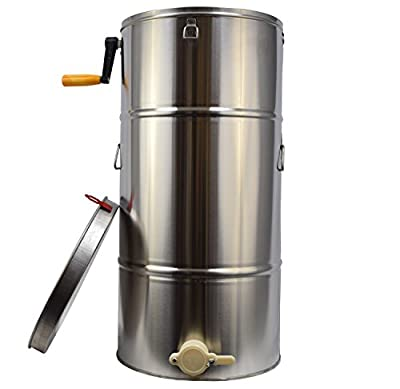 New Two 2 Frame Stainless Steel Bee Honey Extractor SS Honeycomb Drum (BEE-V002B)