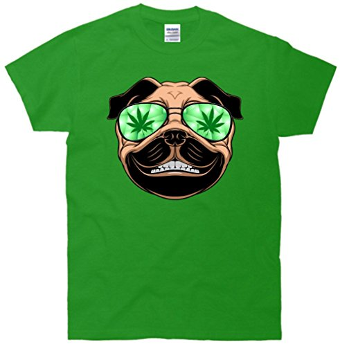 High Off Weed Smiling Pug T-Shirt