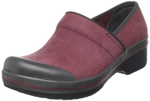 Dansko Women's Volley Printed Nubuck Clog,Plum,37 EU/6.5-7 M US
