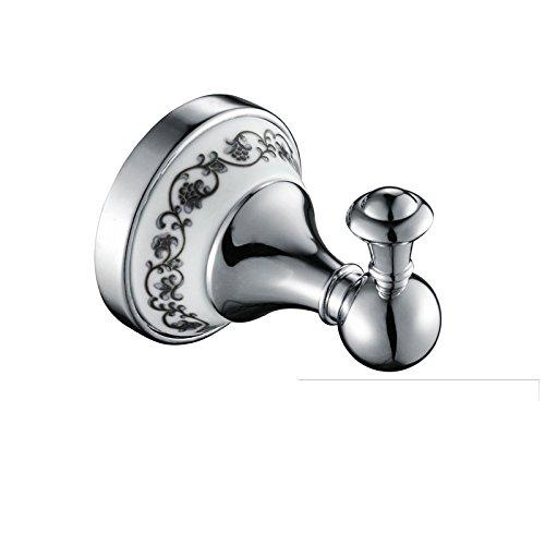 ownace Gold Viktorianischer Stil Badezimmer Zubehör Bademantel Haken Kleiderbügel WC-Wand montiert chrome