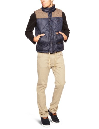 Duck And Cover Bailey Men's Jacket X Large Blue Black