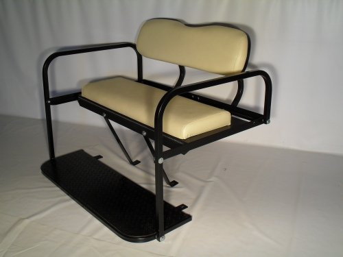 Club Car DS Golf Cart Rear Flip Back Seat Kit (Buff)