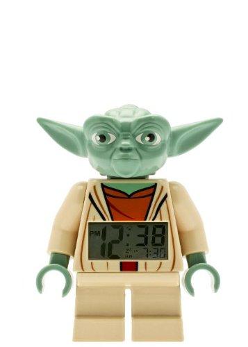 Lego Kids' 9003080 Star Wars Yoda Minifigure Alarm Clock front-501101