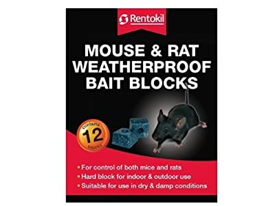 Rentokil FH15 Water Proof Mouse and Rat Killer Bait - Packs of 12