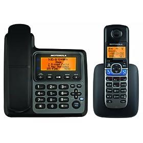 (清晰)Motorola L702CBT摩托罗拉数字答录机电话+数字无绳电话$81.13,