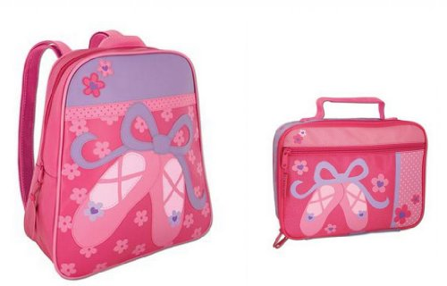 Stephen Joseph Go Go Backpack And Classic Lunchbox Set, Ballet Shoes front-1063727