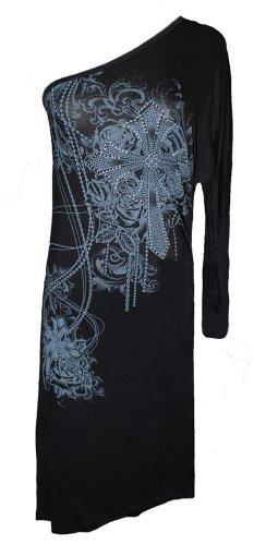 Womens New Katydid Grand Cross One Sleeve Dress Xlarge