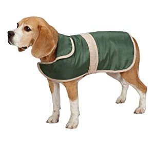 Casual Canine Barn Coat with Contrast Trim, X-Large, Hunter Green