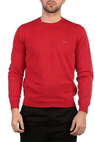 SUN68 Uomo Polo Maglia Giro T-Shirt Primavera Estate Rosso Art 16161 10 P16