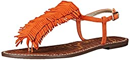 Sam Edelman Women\'s Gela Flat Sandal, Tangelo, 10 M US