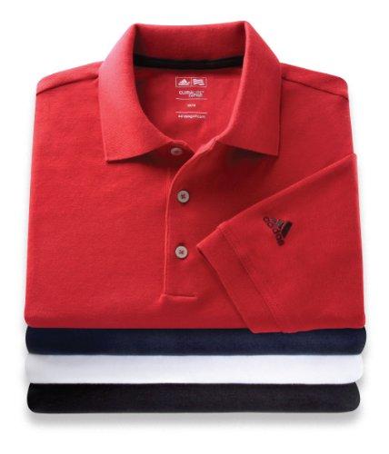 Adidas Men's Climalite® Stretch Pique Polo Navy SMALL