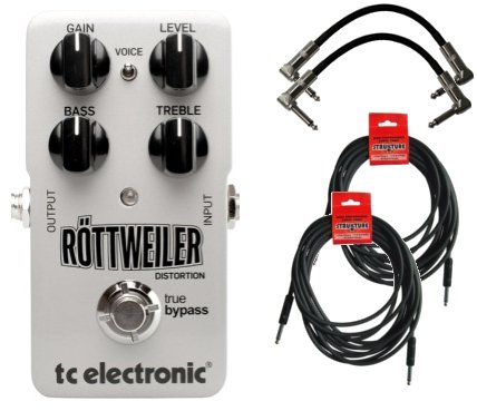 Tc Electronic Rottweiler Metal Distortion Stomp Box W/4 Free Cables