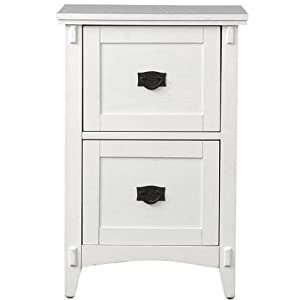Artisan file cabinet 2 drawer white for Kitchen cabinets amazon