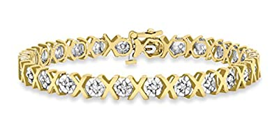 Carissima 9ct Yellow Gold Women's 1.00ct Diamond Bracelet 19cm/7.5""