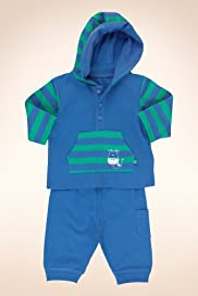 2 Piece Petit Bebe Pure Cotton Cow Hooded Top & Joggers Outfit [T78-5546J-Z]