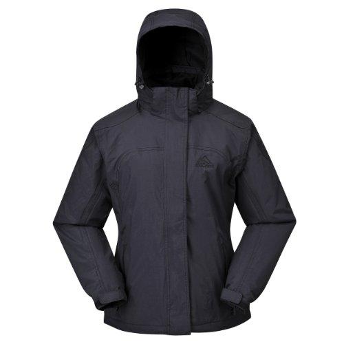 COX SWAIN Damen 2-Lagen Outdoor Regenjacke Pure - 5.000mm Wassersäule, Farbe: Black, Größe: M