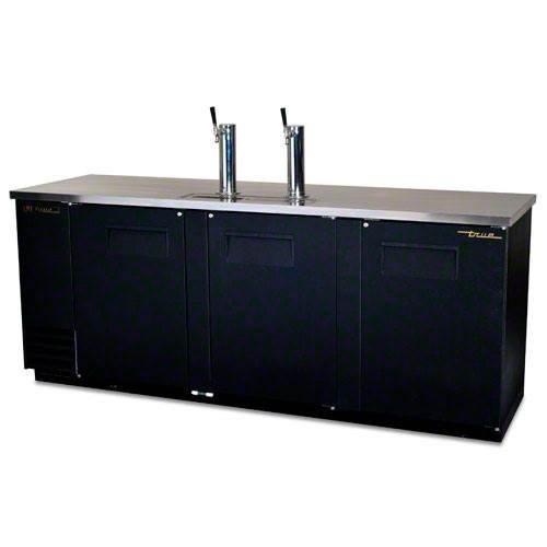 True Tdd-4 Black Vinyl Direct Draw Keg Cooler | 4 Keg Capacity