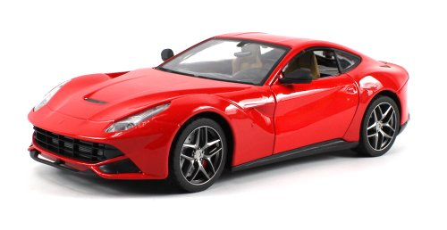 Diecast Ferrari F12 Berlinetta Electric RC Car Full Metal Body Metallic Paint 1:18 Scale Ready To Run RTR w/ Opening Doors, LED Headlights (Colors May Vary)