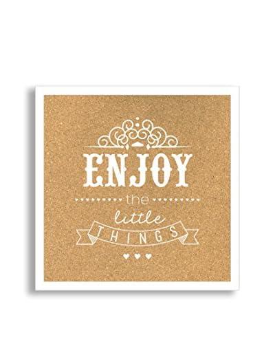 Enjoy the Little Things Framed Corkboard