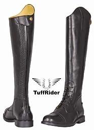 TuffRider Men\'s Baroque Field Boots, Black, 8 Wide