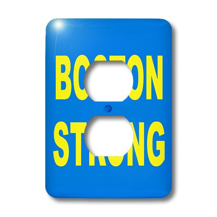 lsp_113689_6 EvaDane - Quotes - Boston Strong - Light Switch Covers - 2 plug outlet cover