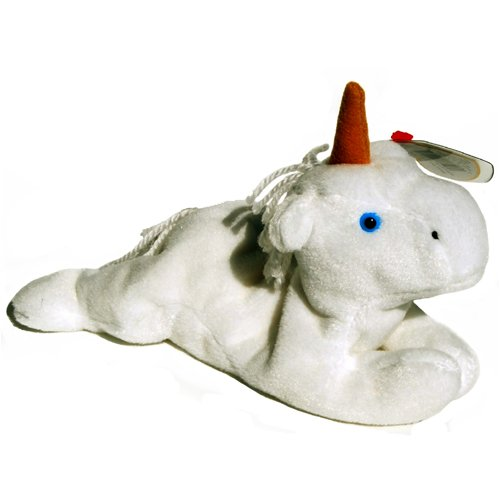 Ty Beanie Babies - Mystic the Unicorn (Brown Horn, Coarse Mane) - 1